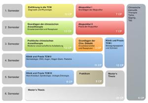 Stundenplan vom Masterstudiengang TCM an der TU München